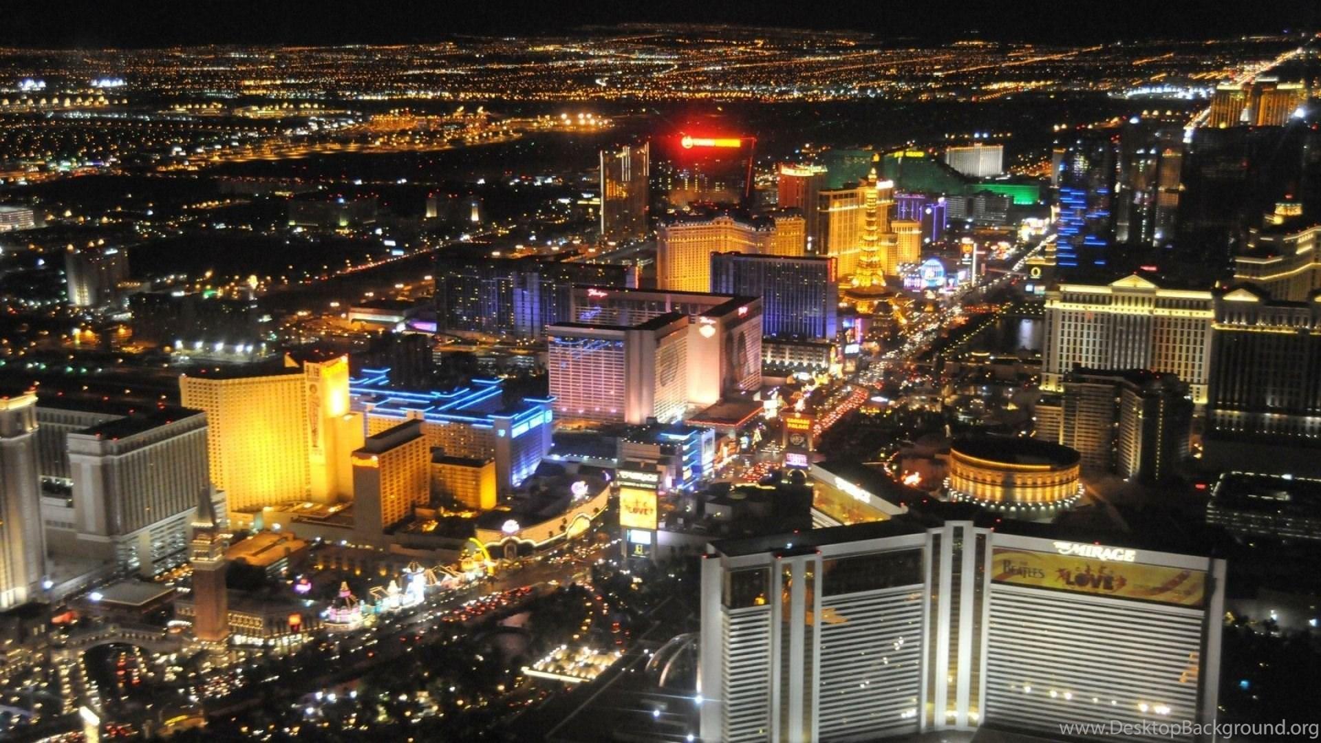Download Wallpapers 1920x1080 Las Vegas Nevada Night Road Full