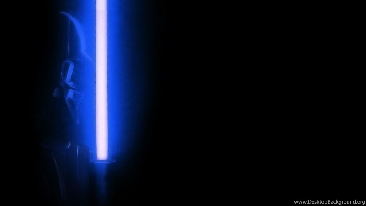 Star Wars Darth Vader W Blu Lightsaber Wallpapers By Sedemsto On