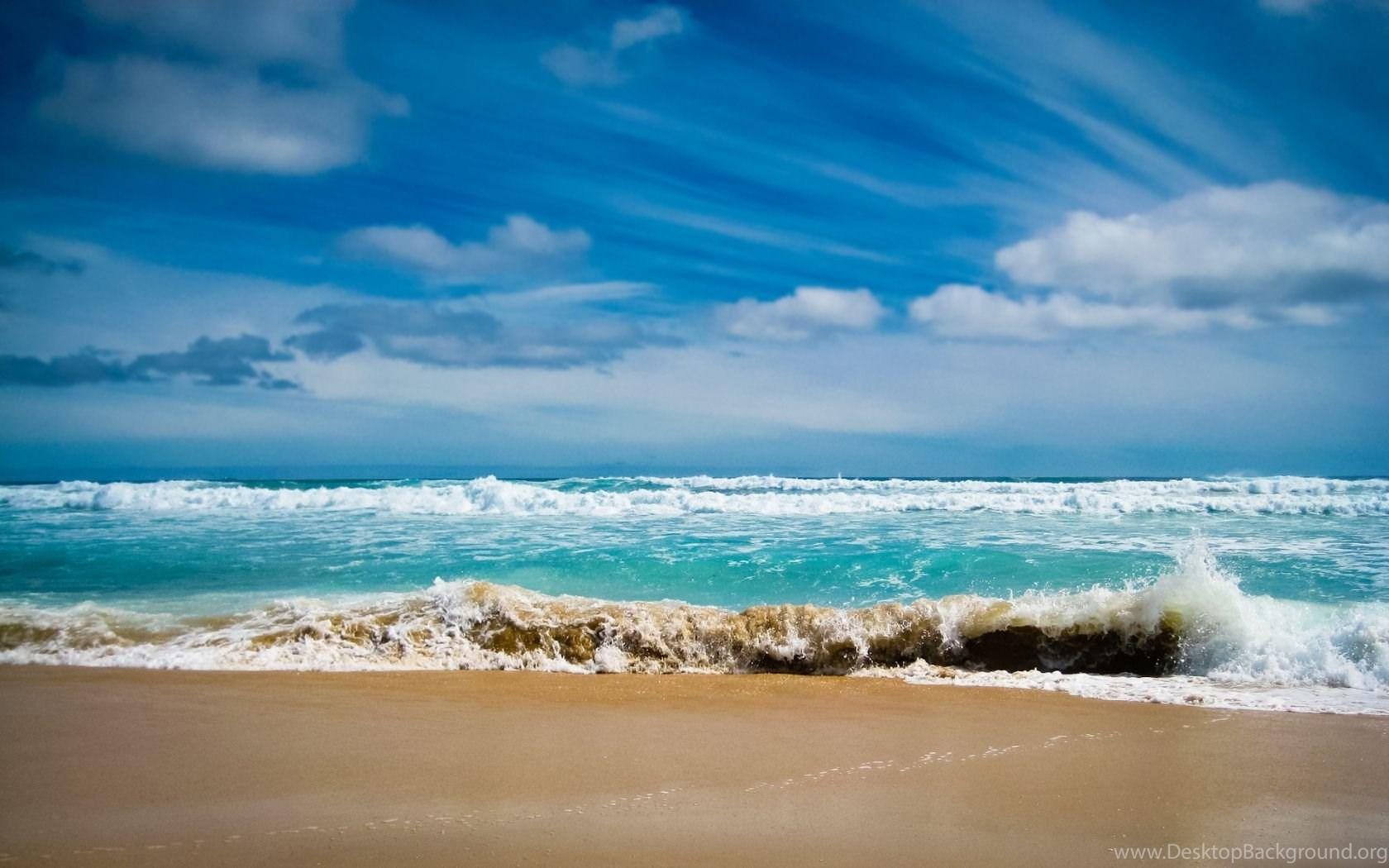 Beach Waves Wallpaper Desktop