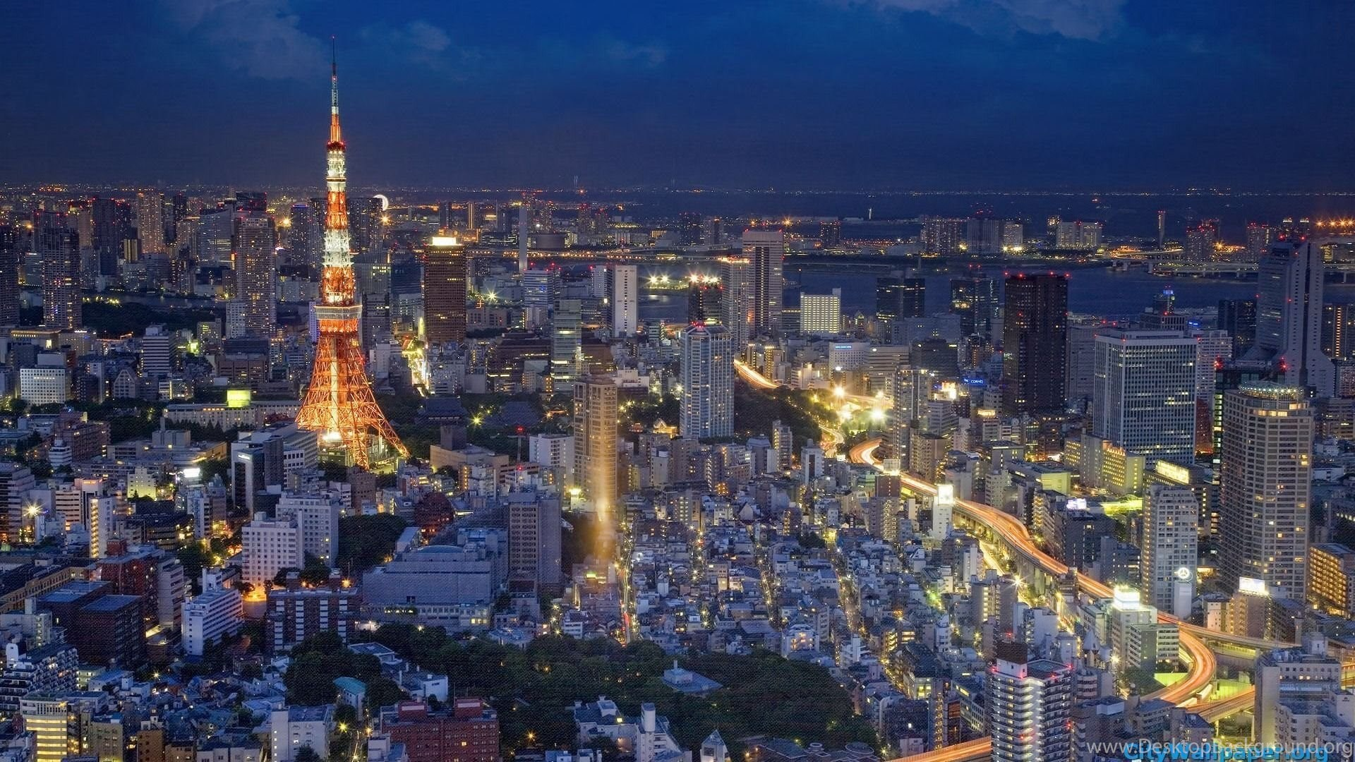 Tokyo Tower Japan Cities Landscape Photography Wallpapers 07