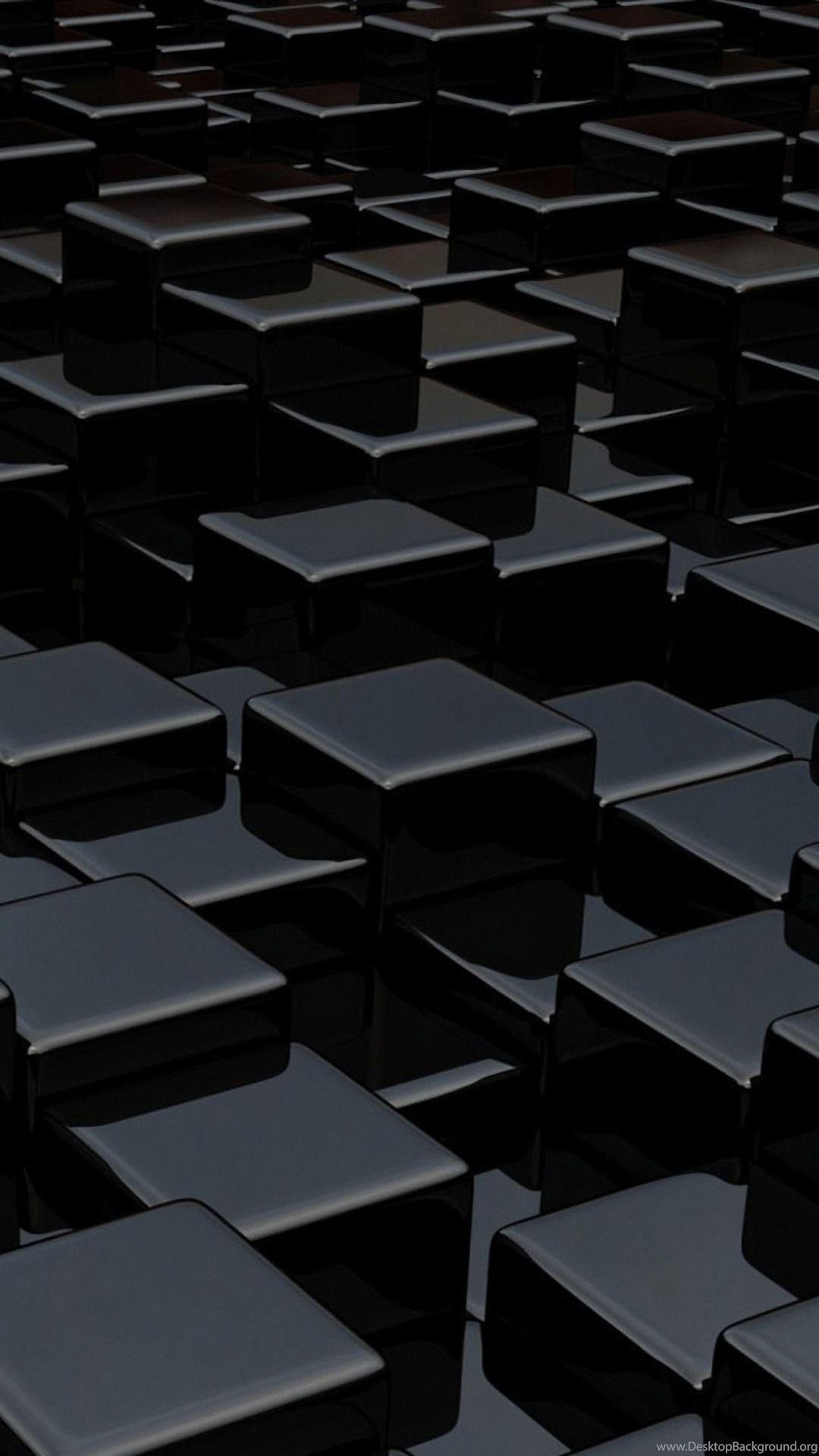 Black Cubes 3d Samsung Galaxy A7 Wallpapers Hd 1080x1920 Desktop Background