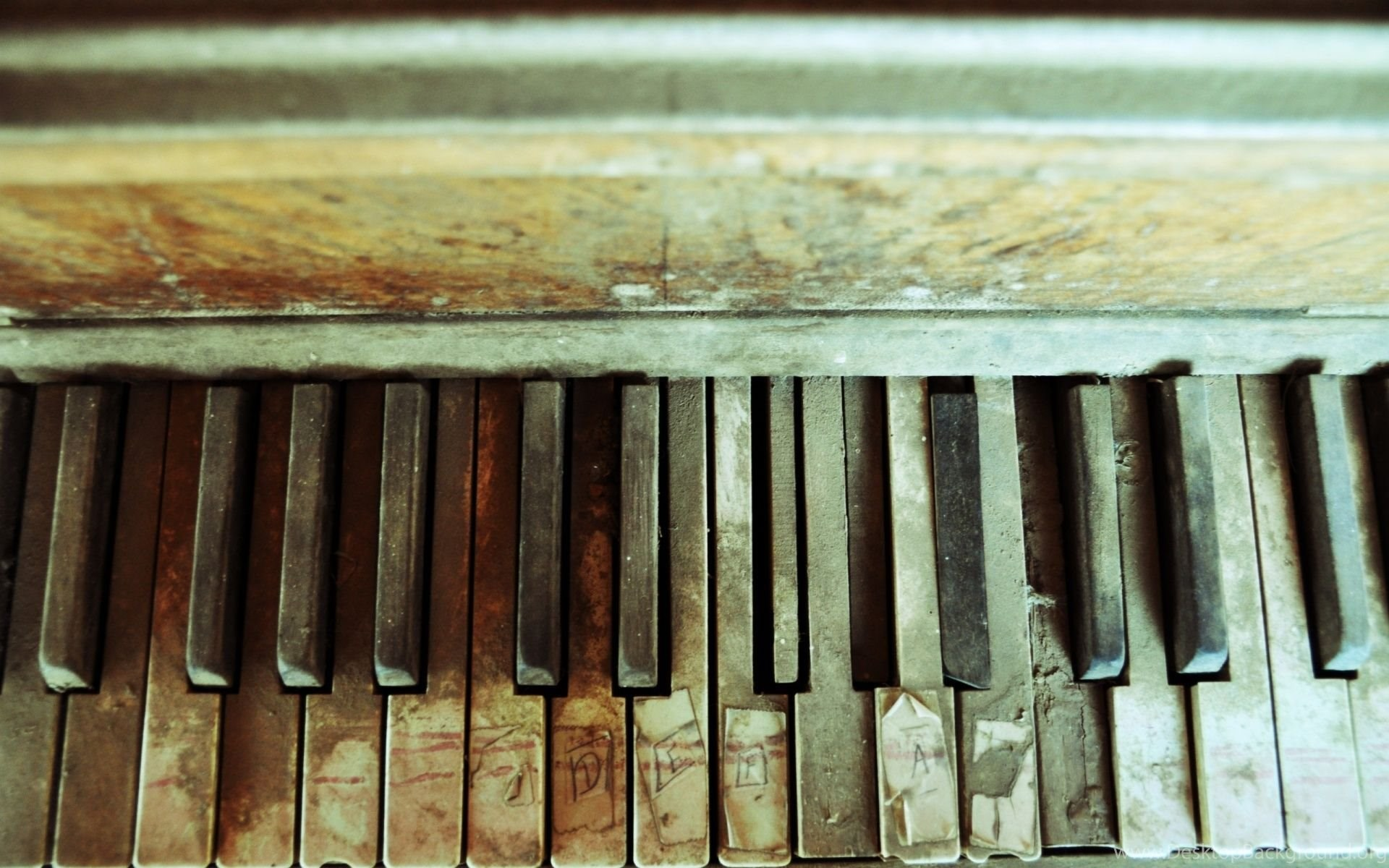 1920x1200 Abandoned Piano Desktop PC And Mac Wallpapers