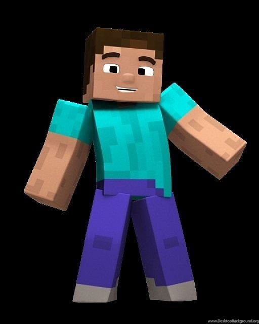 Minecraft Steve Head Desktop Background