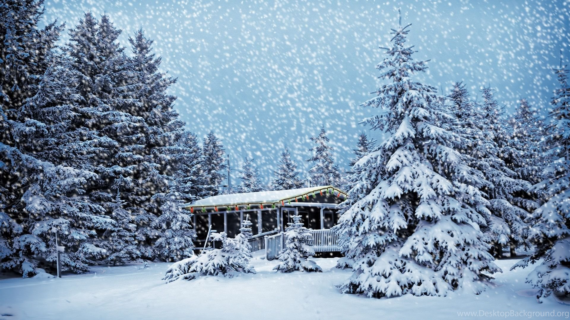 theme bin» blog archive » christmas snowstorm hd wallpapers desktop