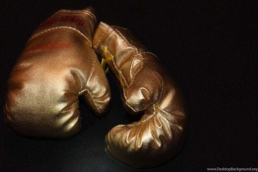 Golden Boxing Gloves Wallpaper Desktop Background