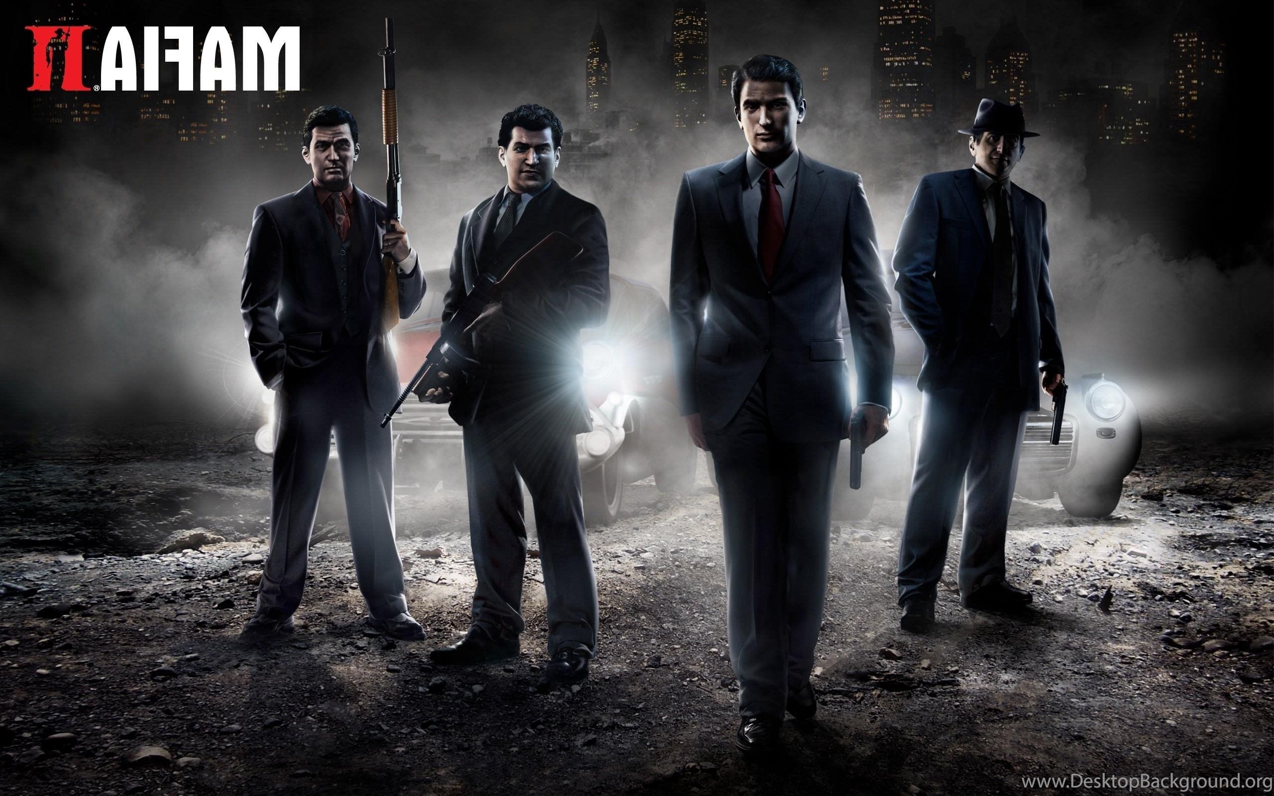 Mafia 2 gun car smoke night hd wallpapers desktop background - How to download mafia 2 ...