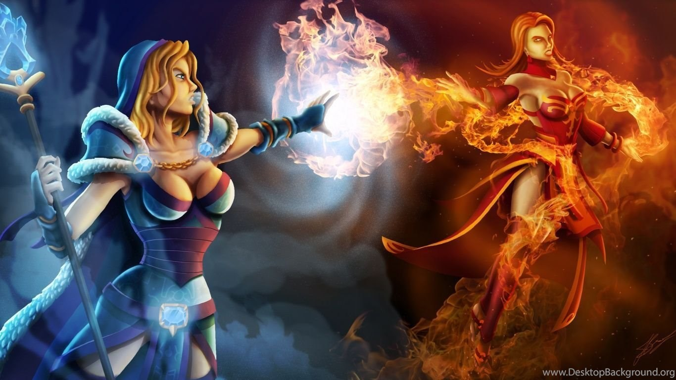 Dota 2 Wallpaper Lina Wallpapers Game Desktop Background