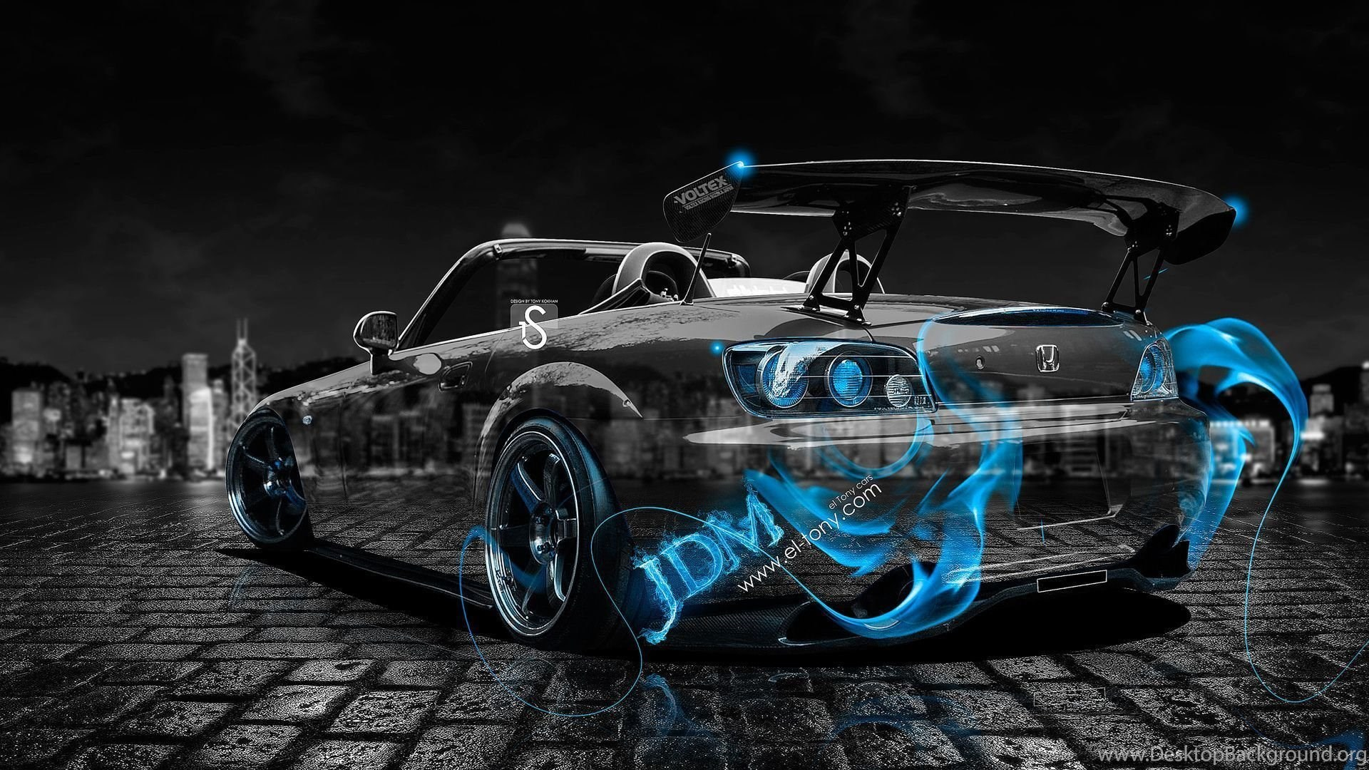 Incroyable Honda S2000 JDM Blue Fire Crystal Car 2013 HD Wallpapers Design  By Tony Kokhan Www