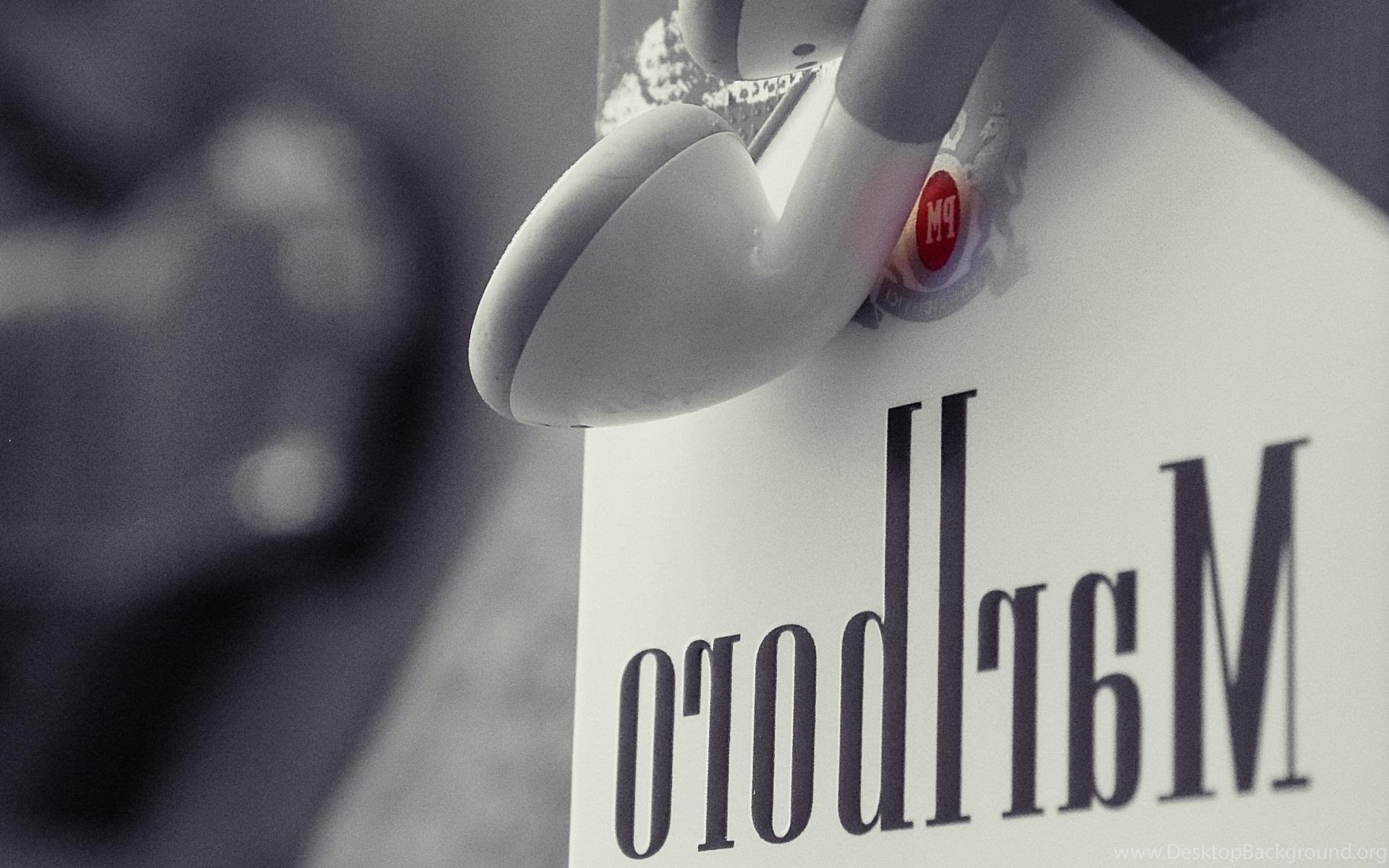 Marlboro Cigarettes Apple Headphones Brand Hd Wallpapers Desktop