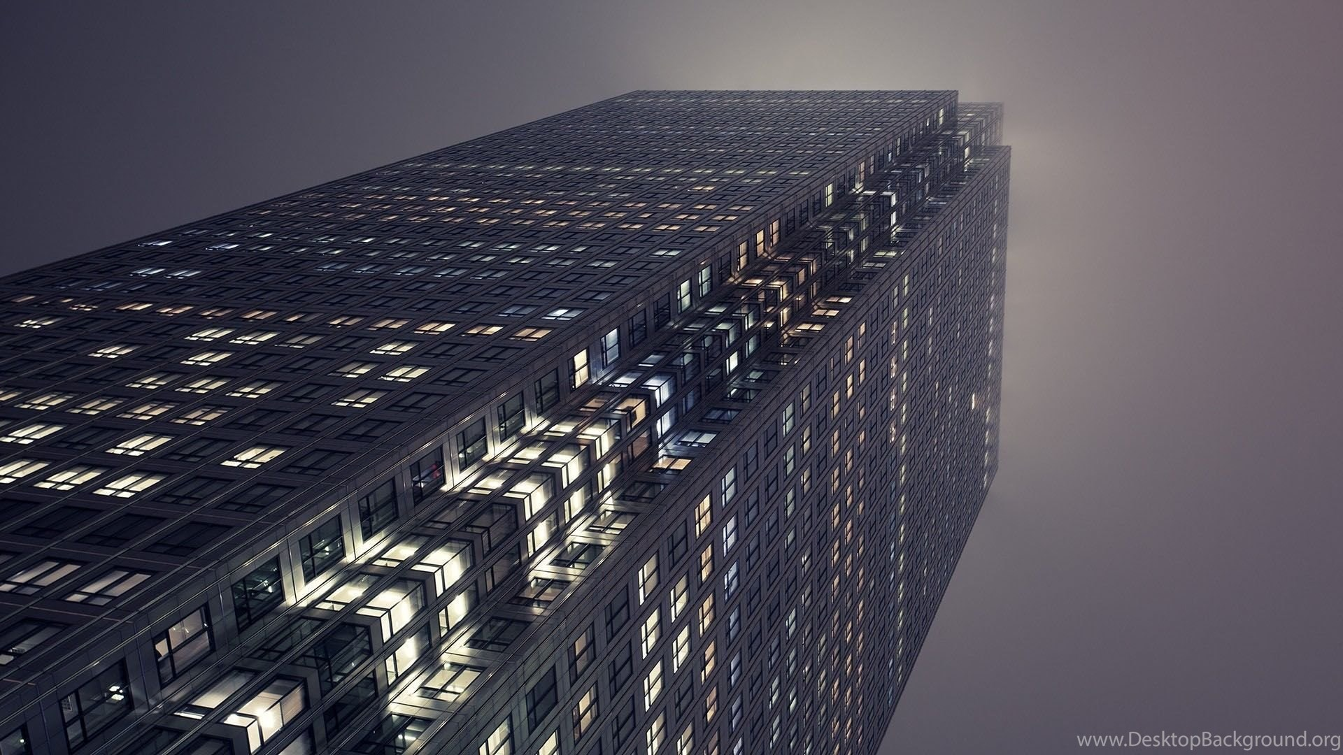Building Skyscraper Fog Architecture Wallpapers Desktop Background
