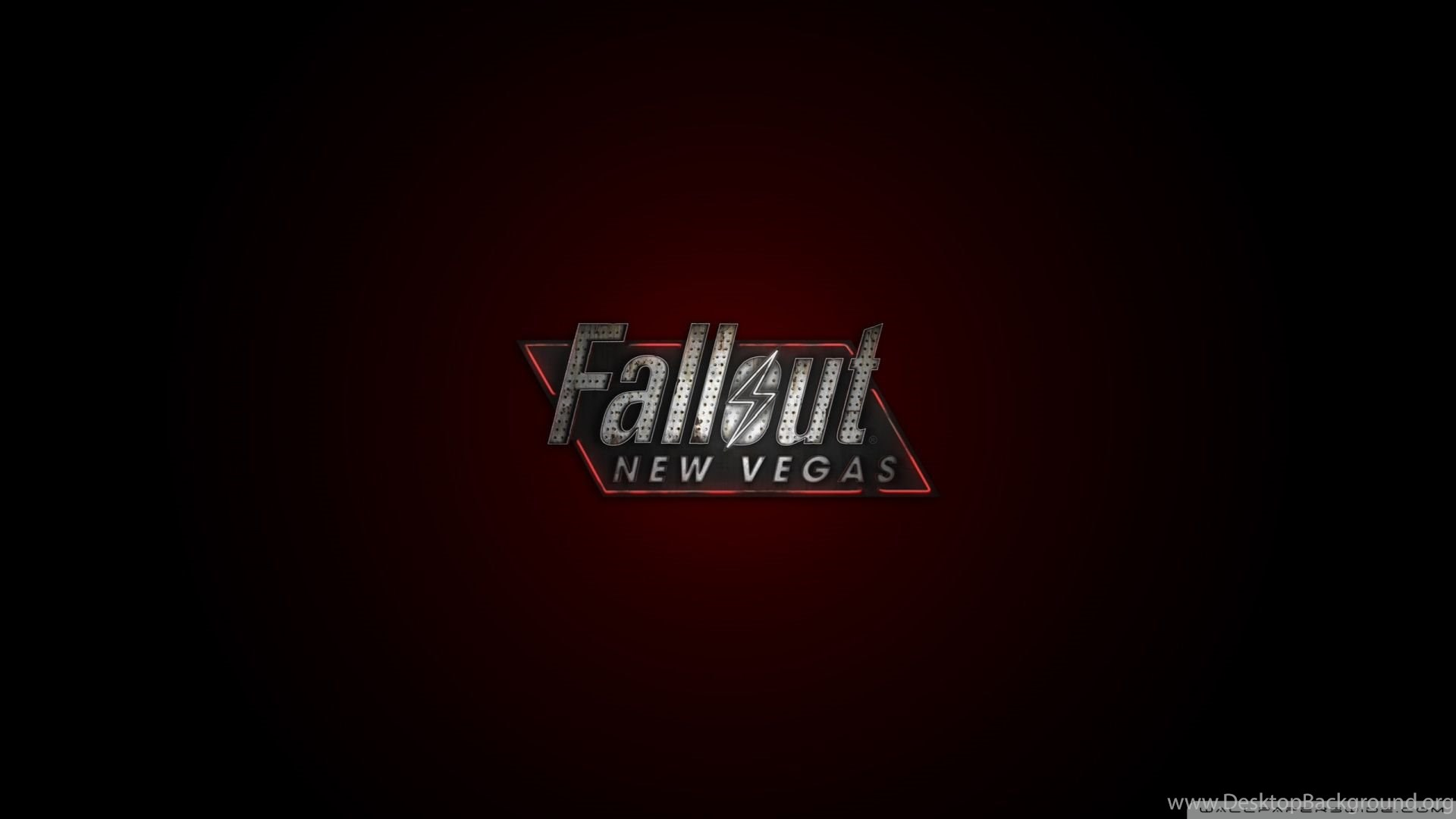Download Fallout New Vegas Logo Red Wallpapers 1920x1080