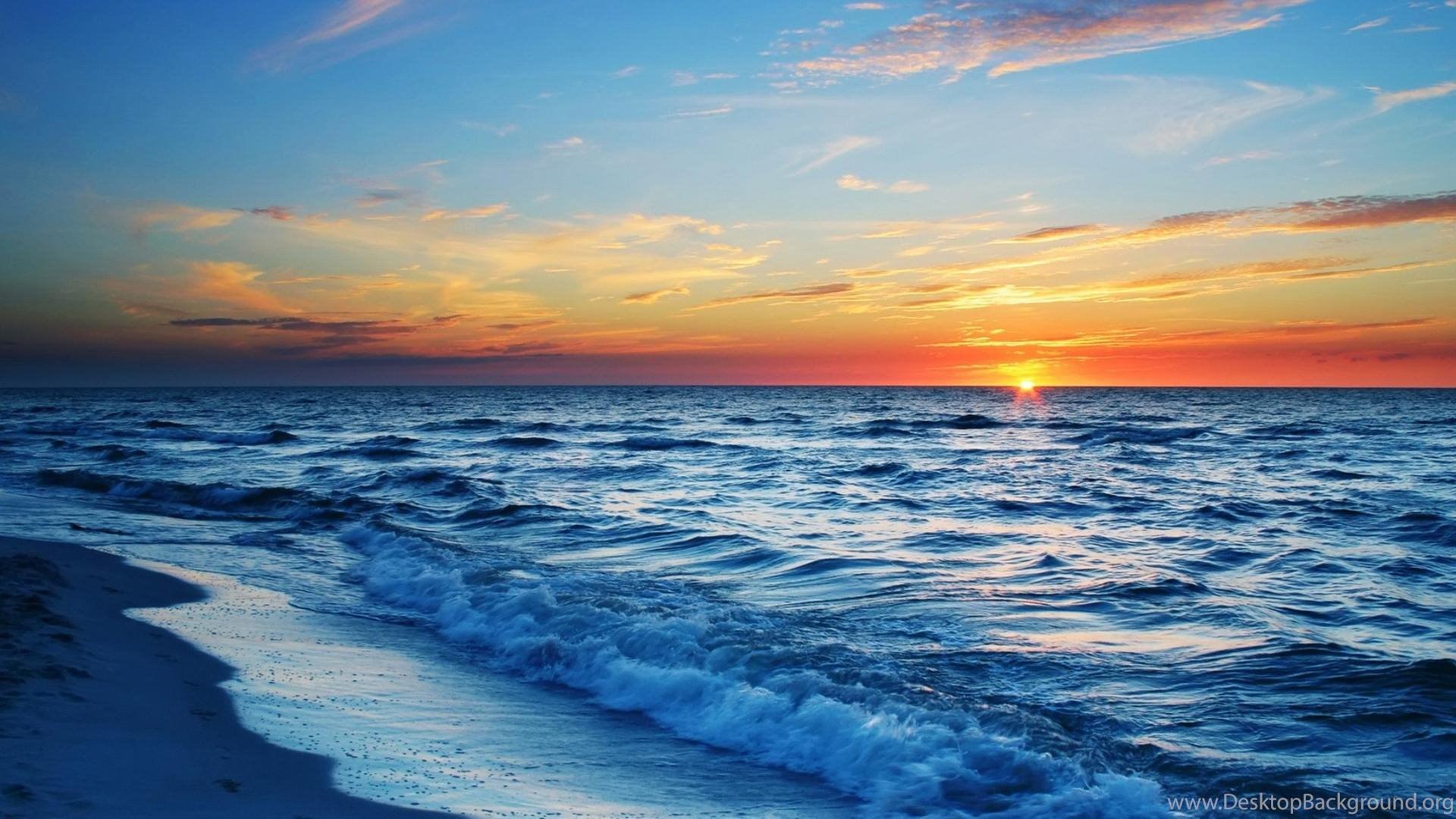116205 ocean sunset desktop wallpaper ocean sunset