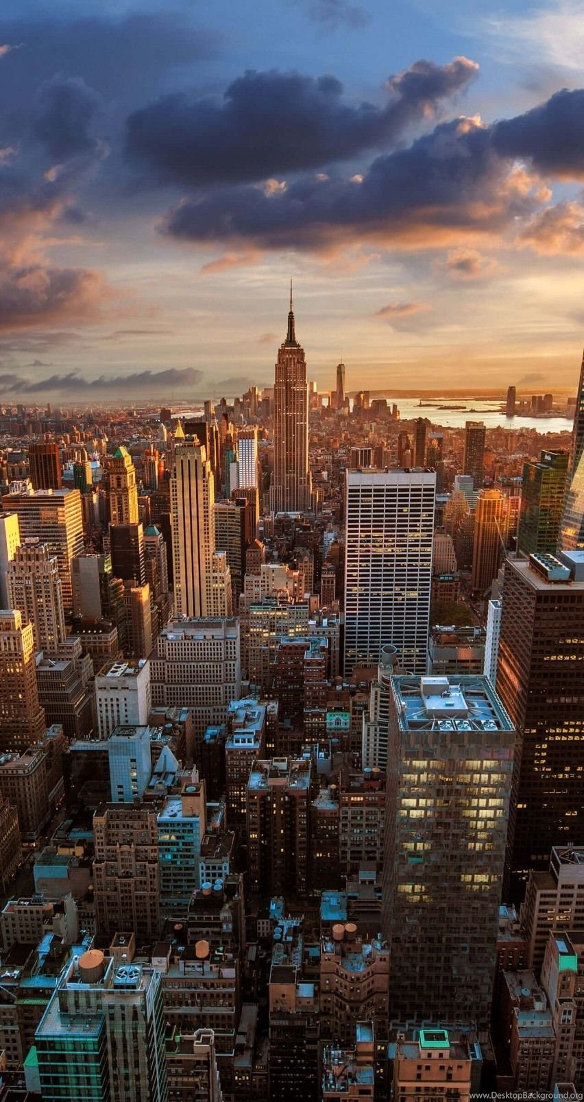 Download New York City Skyline At Sunset HD Wallpapers For IPhone 6
