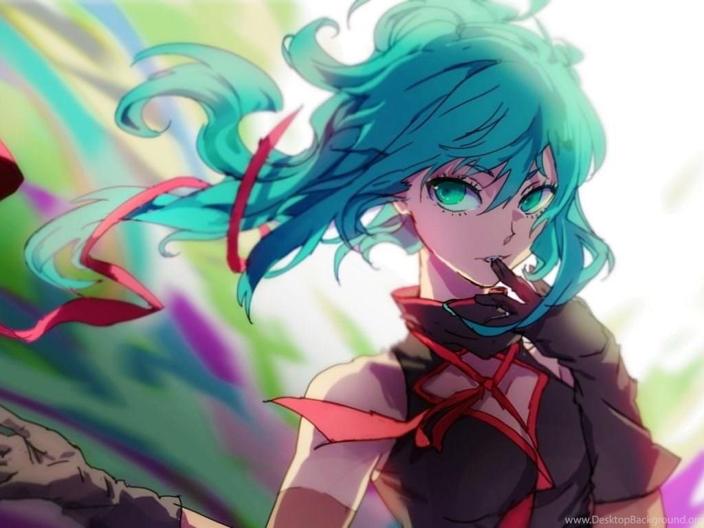 1024x768 Hatsune Miku Anime Girl Wallpapers Desktop Background