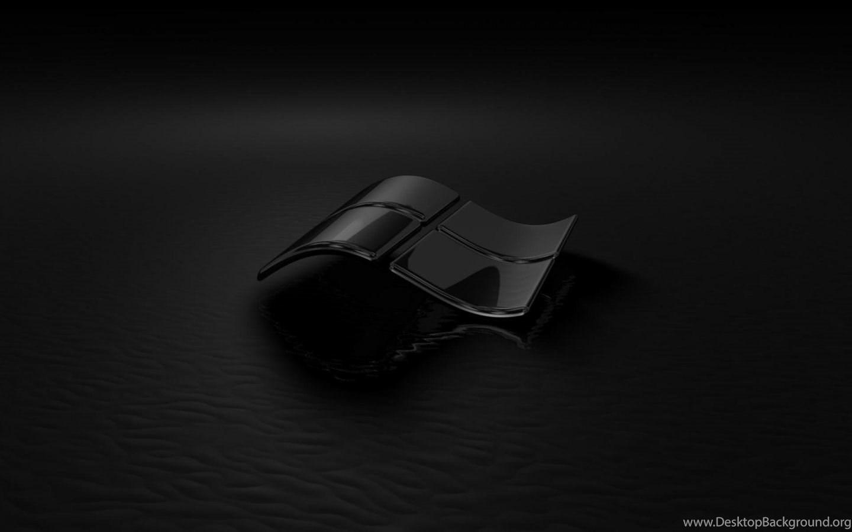 wallpaper: glass, black, reflection, windows 7, dark wallpapers