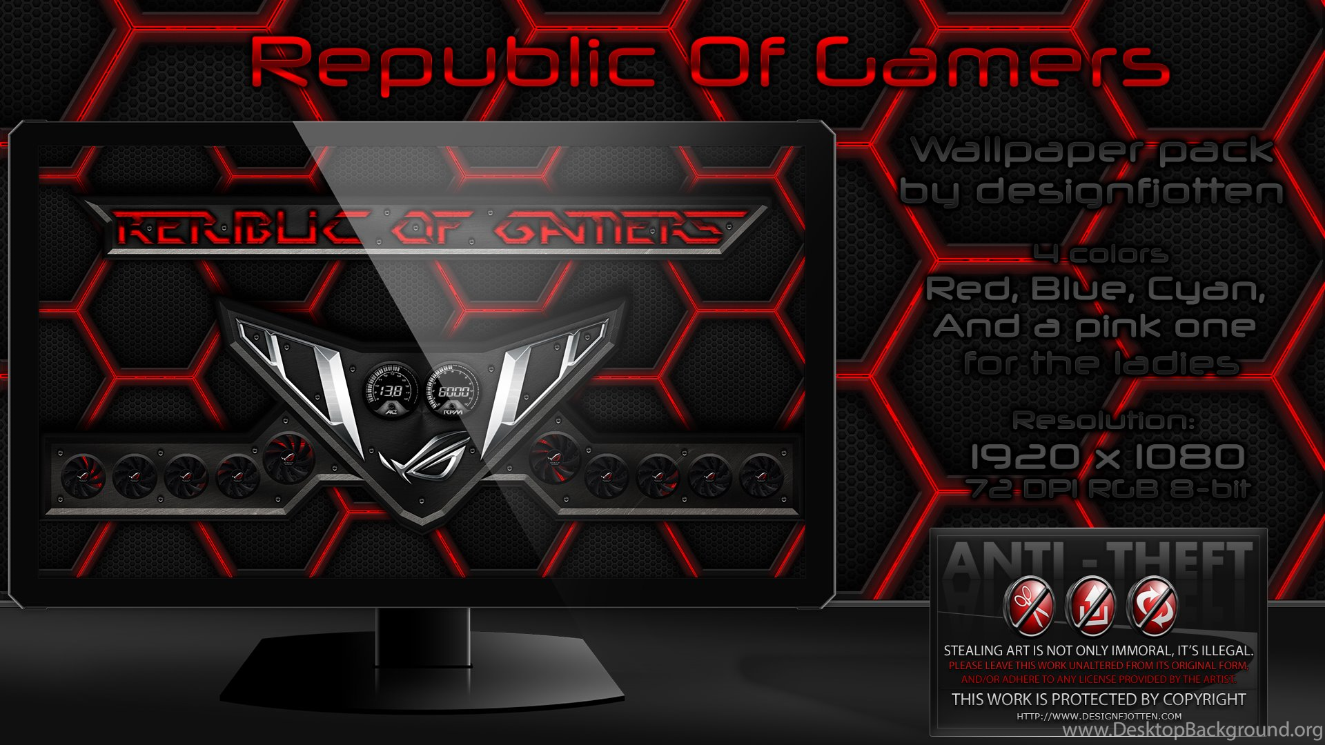Ripublic Of Gamers Wallpapers Pack By Designfjotten On
