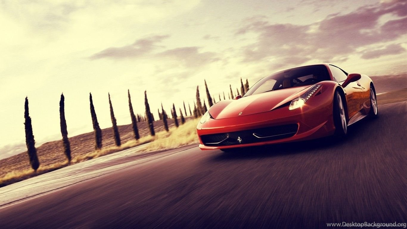 Download 1366x768 Ferrari 458 Italia Wallpapers Desktop Background