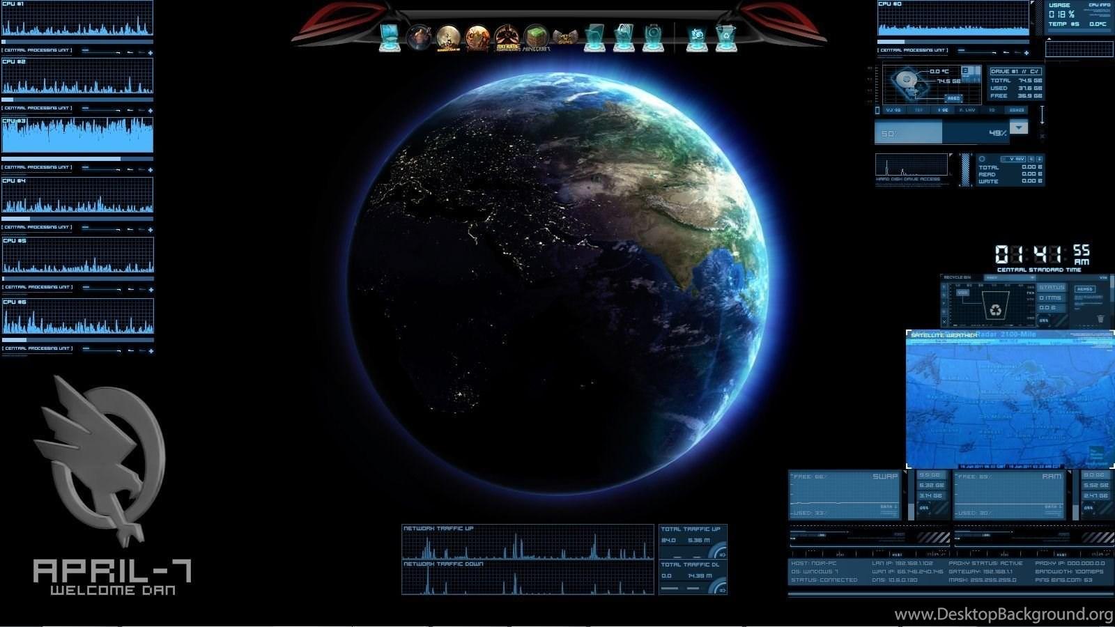 cys high tech desktop theme by cyrusdrakain on deviantart desktop
