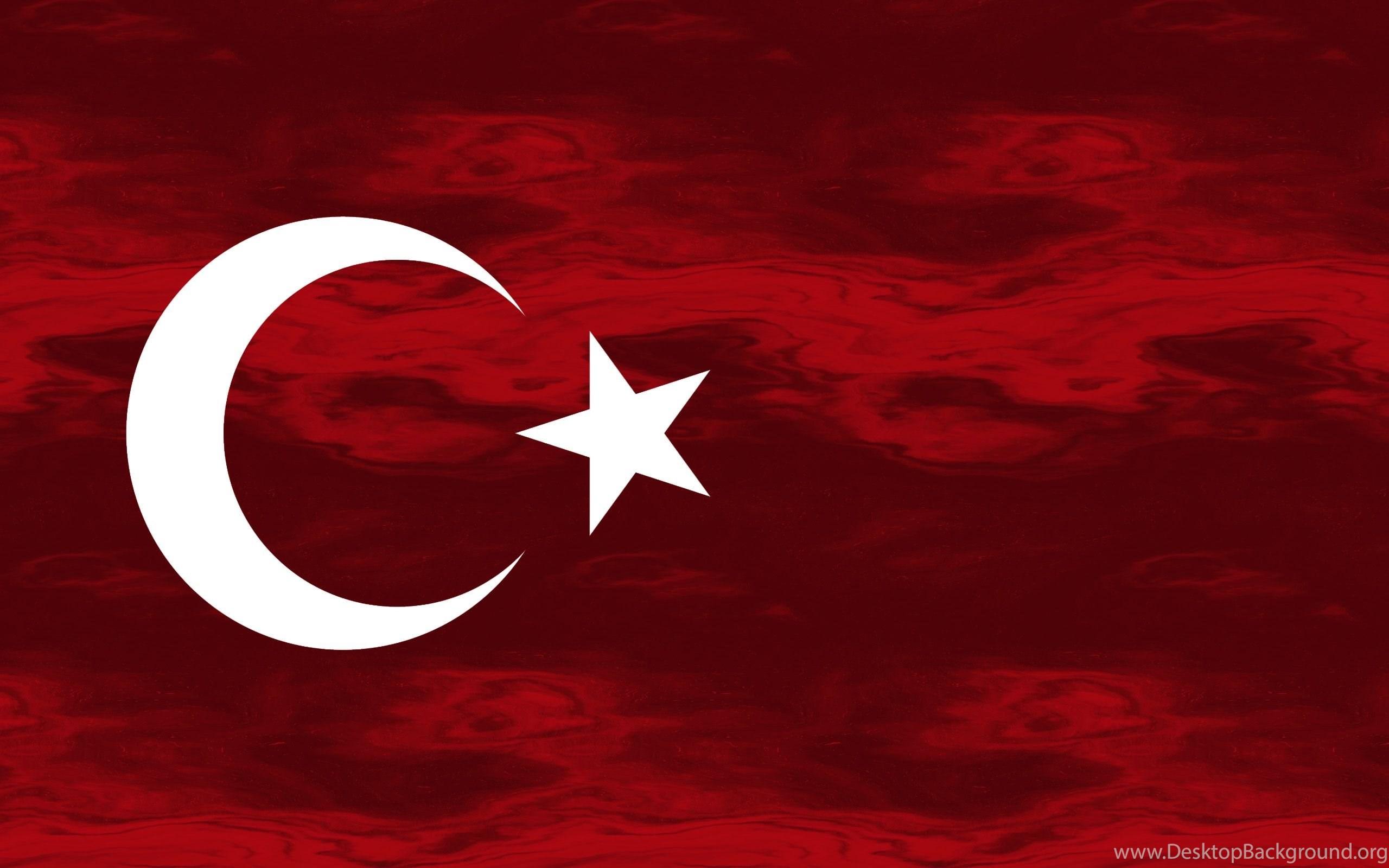 Grunge Flag Of Turkey Wallpaper