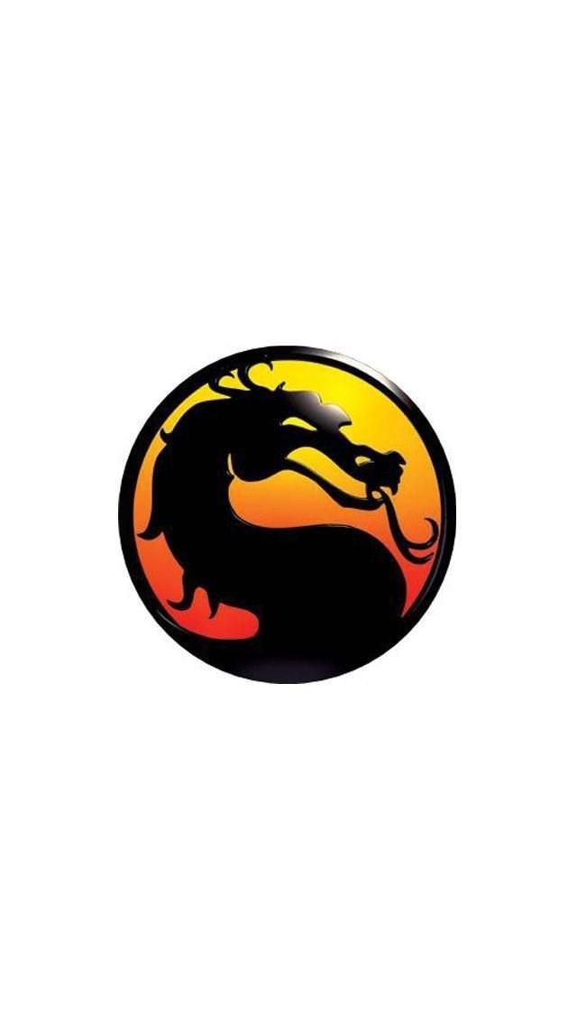 Mortal Kombat Logo Iphone 5 Wallpapers 640x1136 Desktop Background