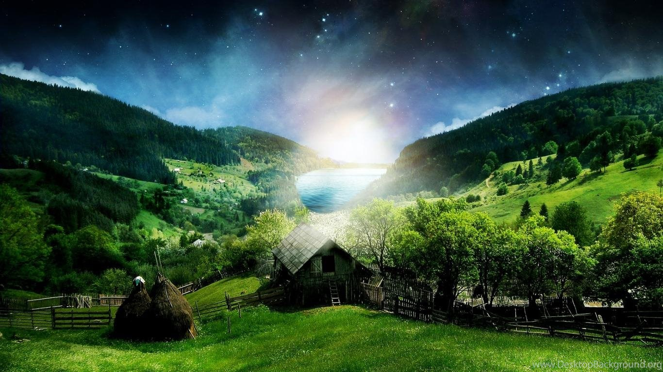 Download Draco Abstract Nature Surreal Landscape Hd City Wallpapers