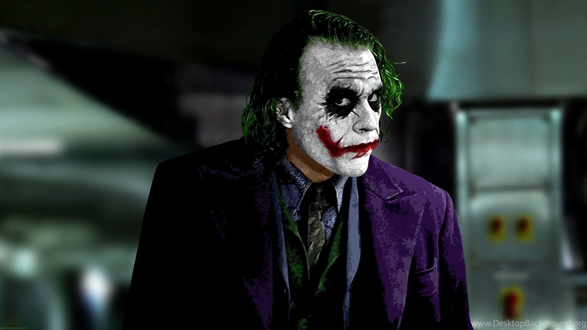 Heath Ledger Joker Wallpapers Desktop Background