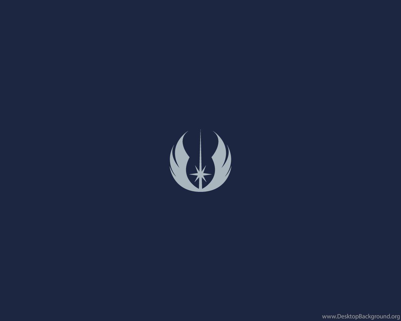 Minimalist Star Wars Wallpaper Jedi Emblem By Diros On Deviantart Desktop Background