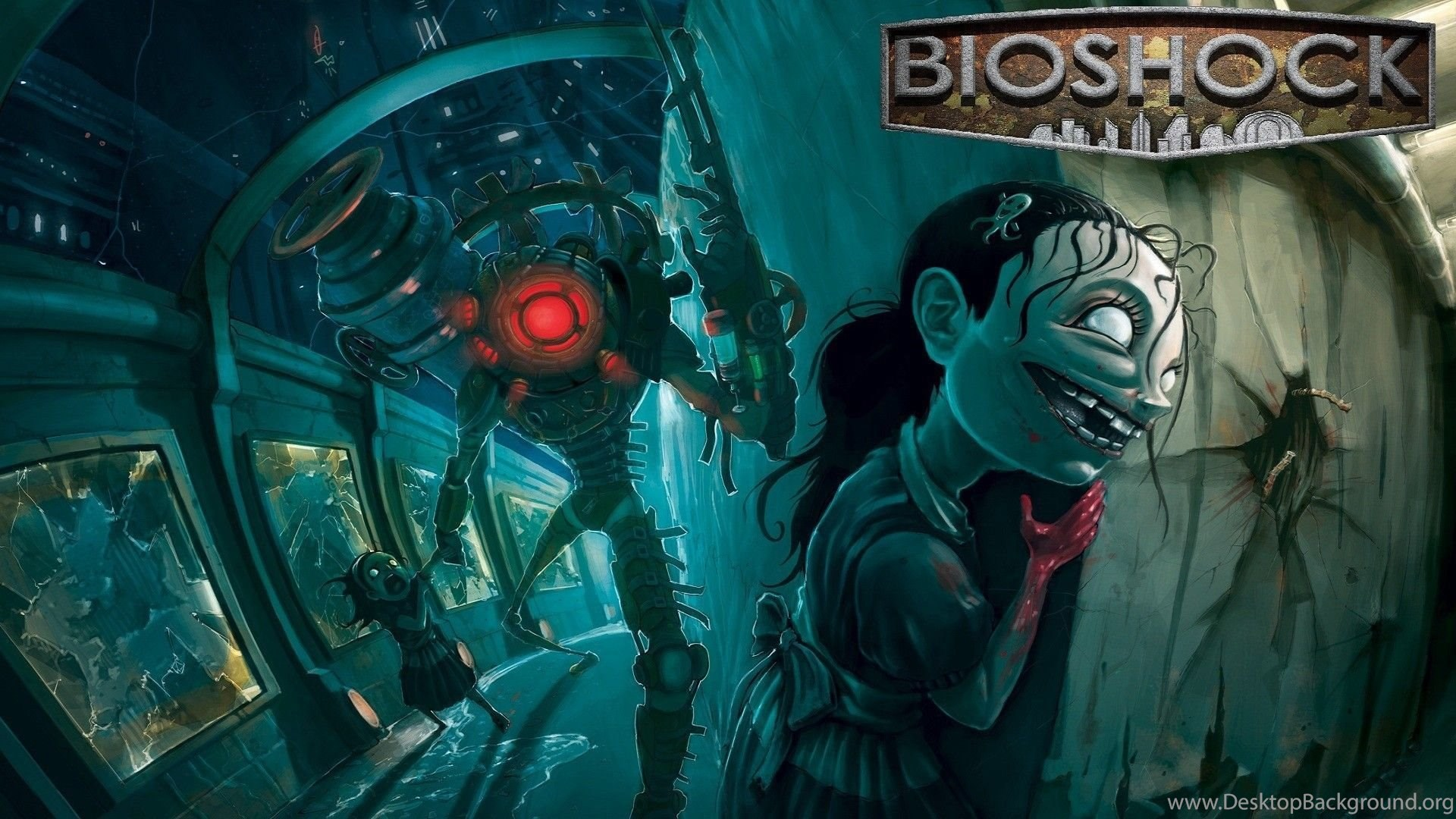 Bioshock Big Daddy Little Sisters Wallpapers And Images