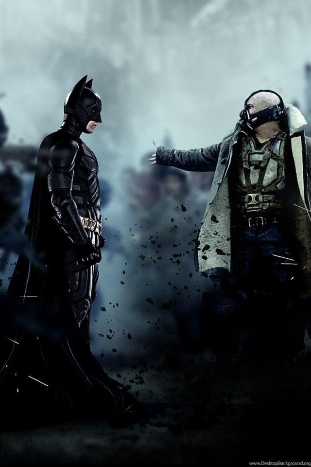 Bane Vs Batman The Dark Knight Rises Cinema Wallpapers Desktop Background