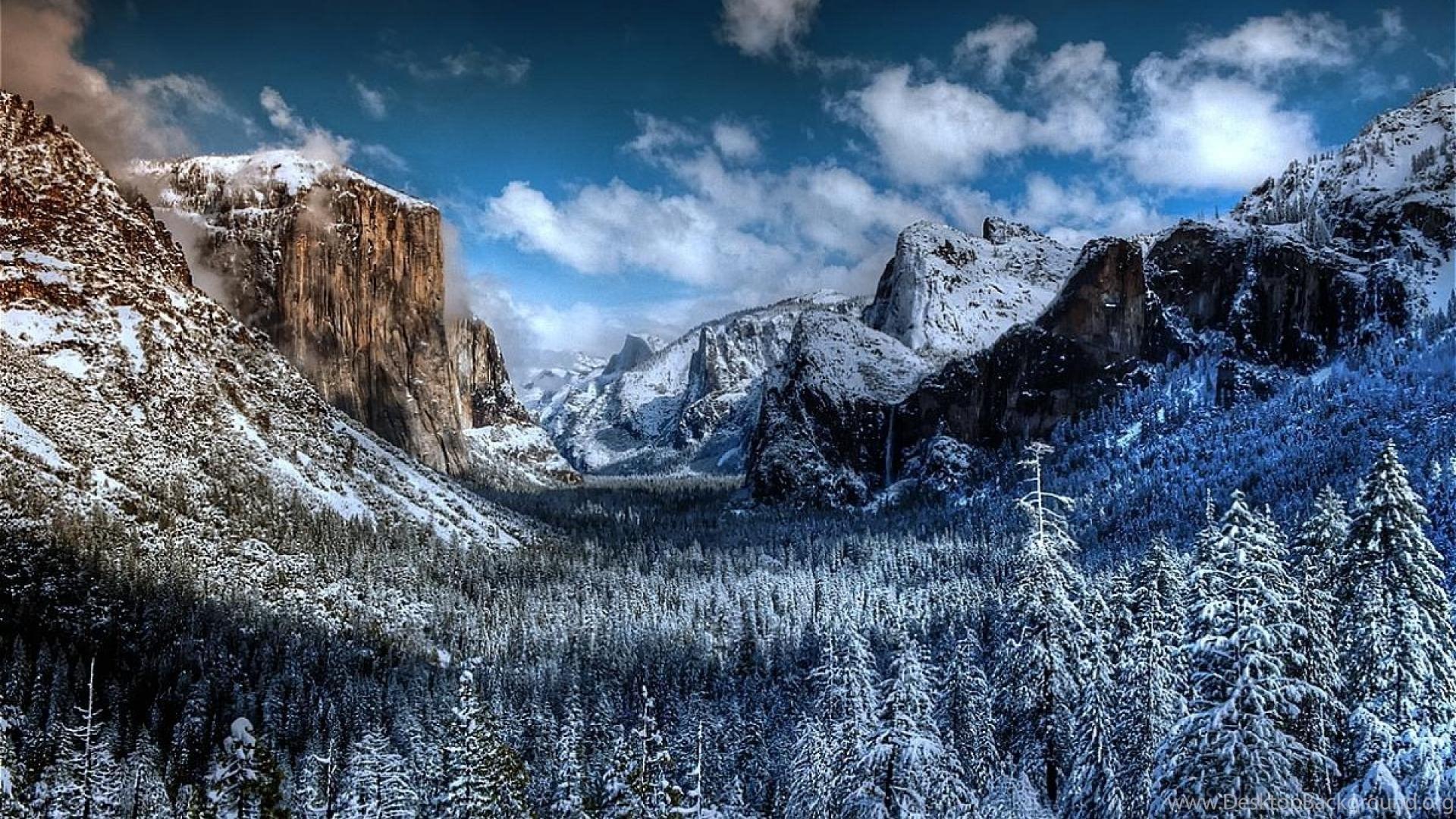 Yosemite Winter Wallpapers Desktop Background