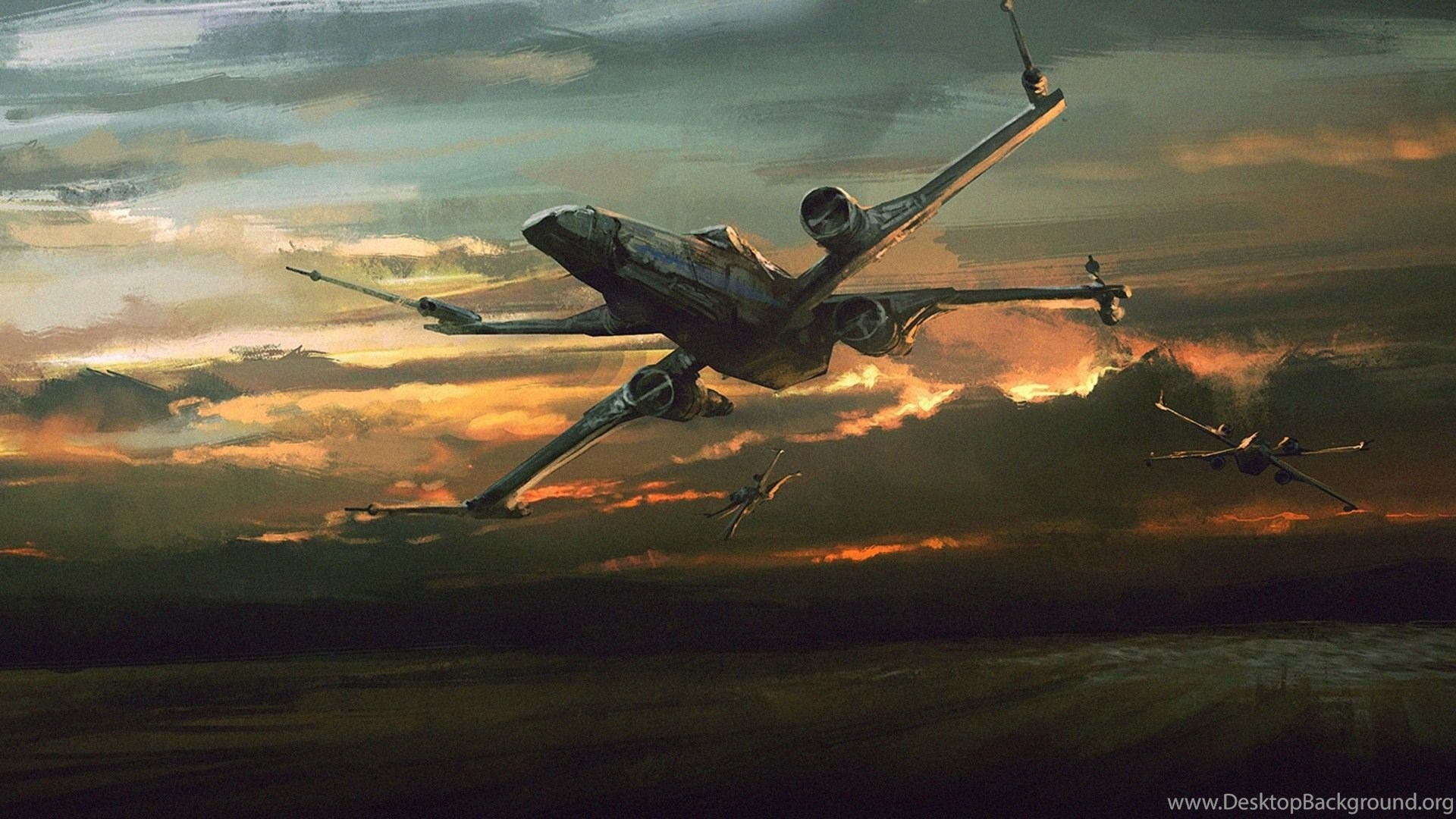 Star Wars The Force Awakens X Wing 1920x1080 1080p Wallpapers Desktop Background