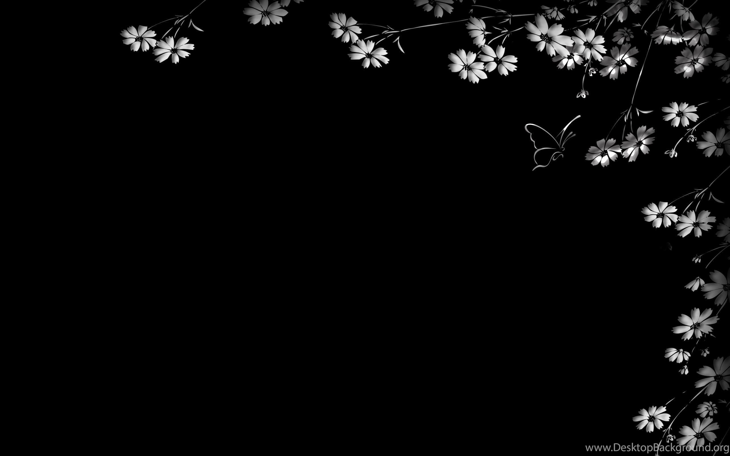 Floral Wallpapers With Black Backgrounds 24 Desktop Wallpapers