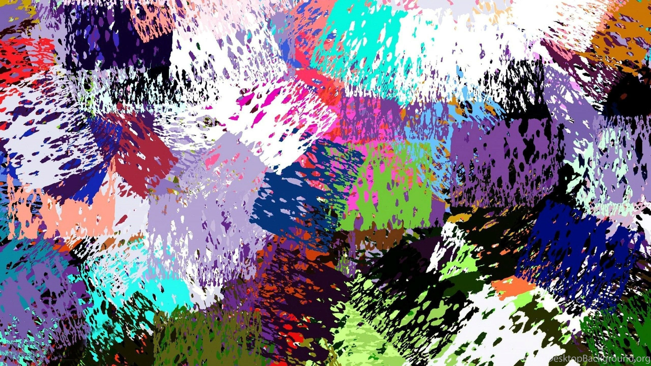 Beautiful Colorful Abstract Painting HD Desktop Background