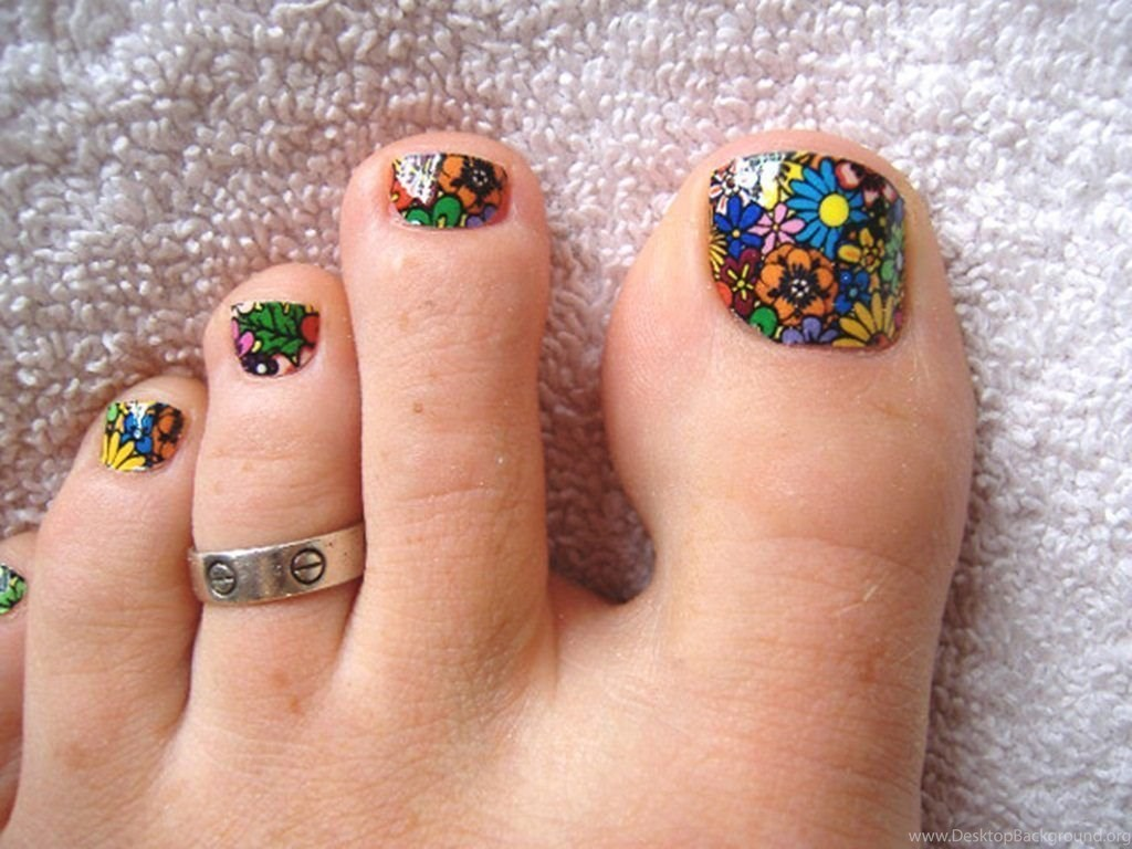 Nail Art For Your Beautiful Feet Desktop Background