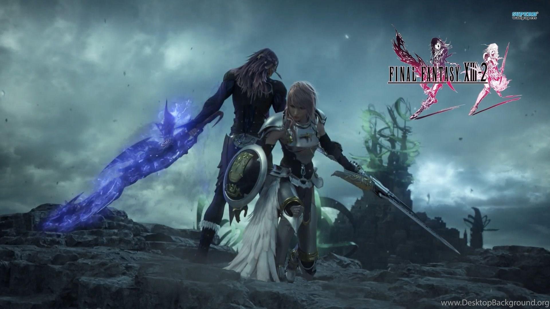 Serah Noel And Caius Final Fantasy Xiii 2 Wallpapers Game