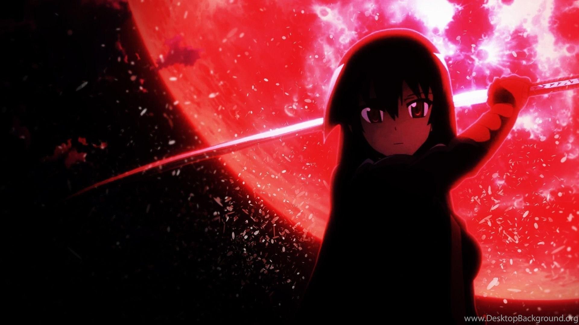 Akame Red Moon Desktop Wallpapers Akamegakill Desktop Background