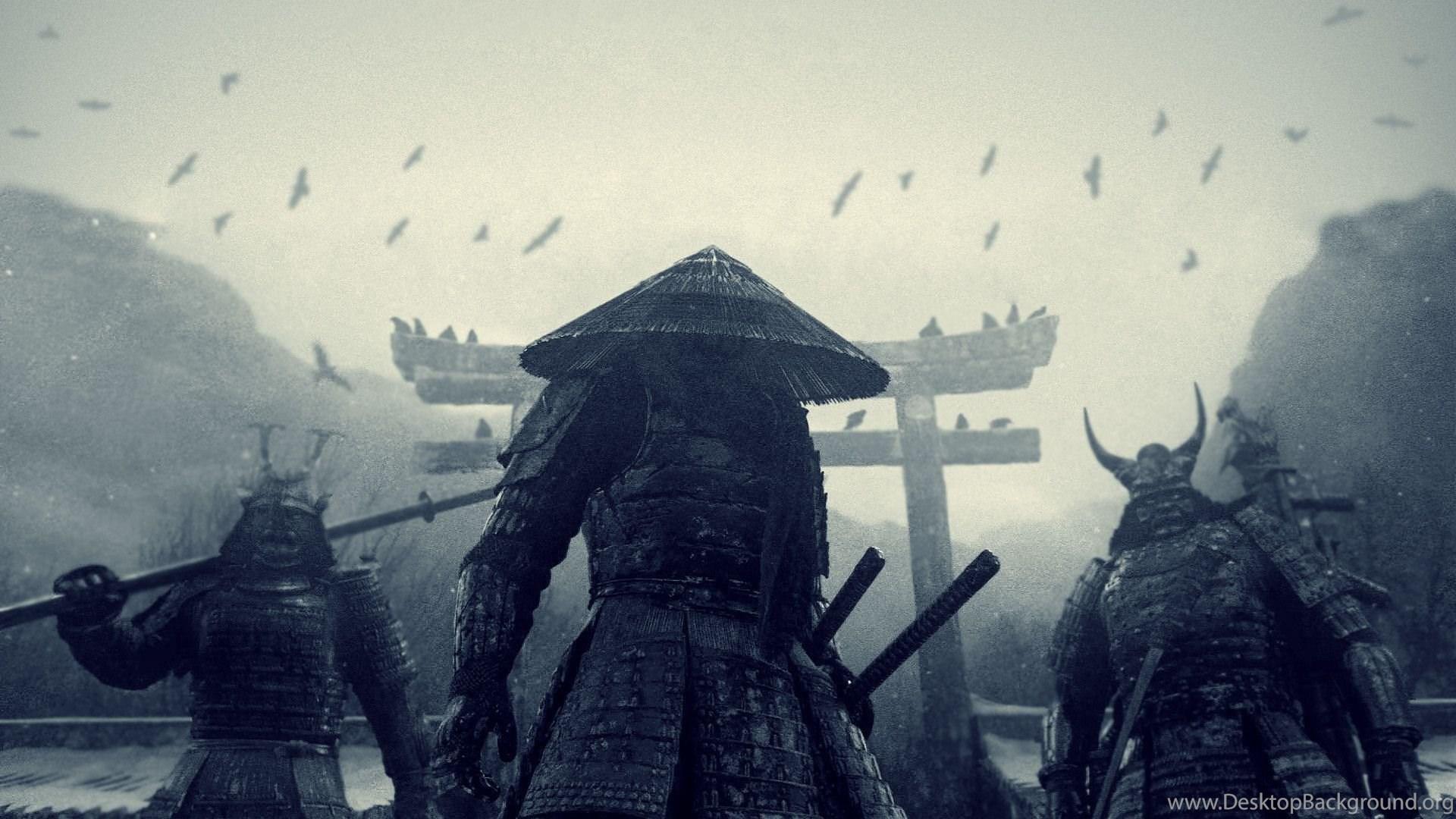 Wallpapers Download 1080x1920 Three Japanese Samurai Hd Desktop Background