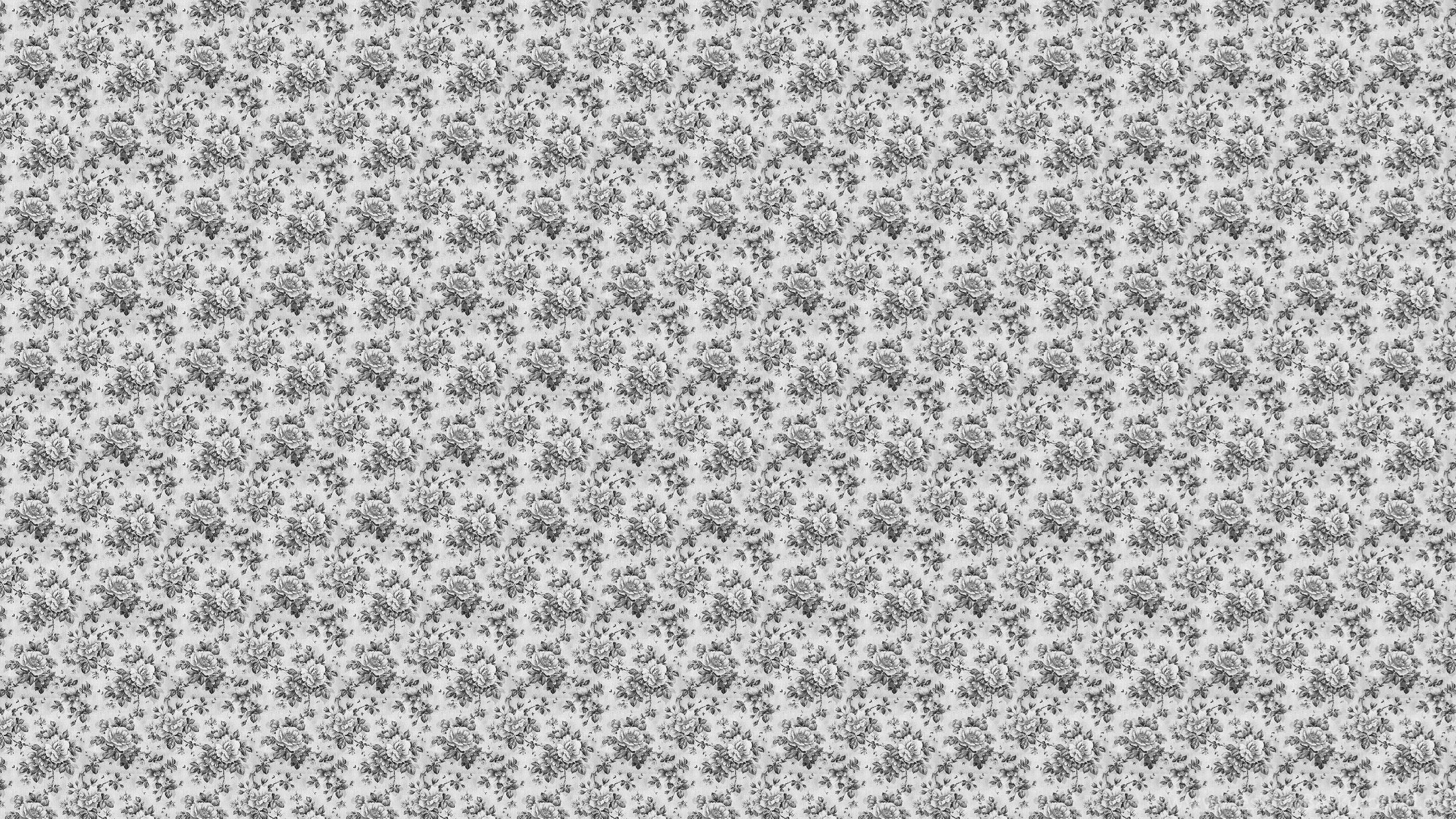 Gray Vintage Floral Desktop Wallpapers Desktop Background