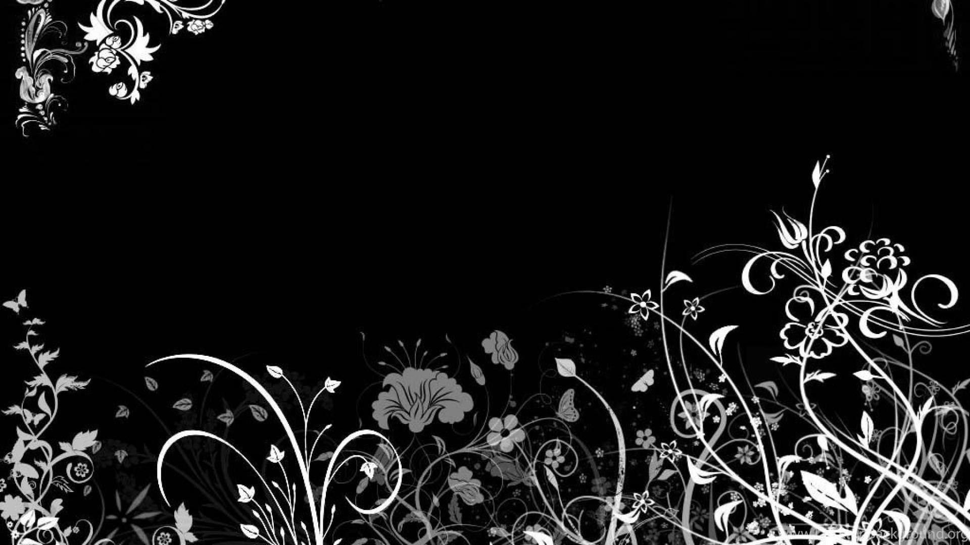 In Black Floral Desktop Wallpaper Desktop Background