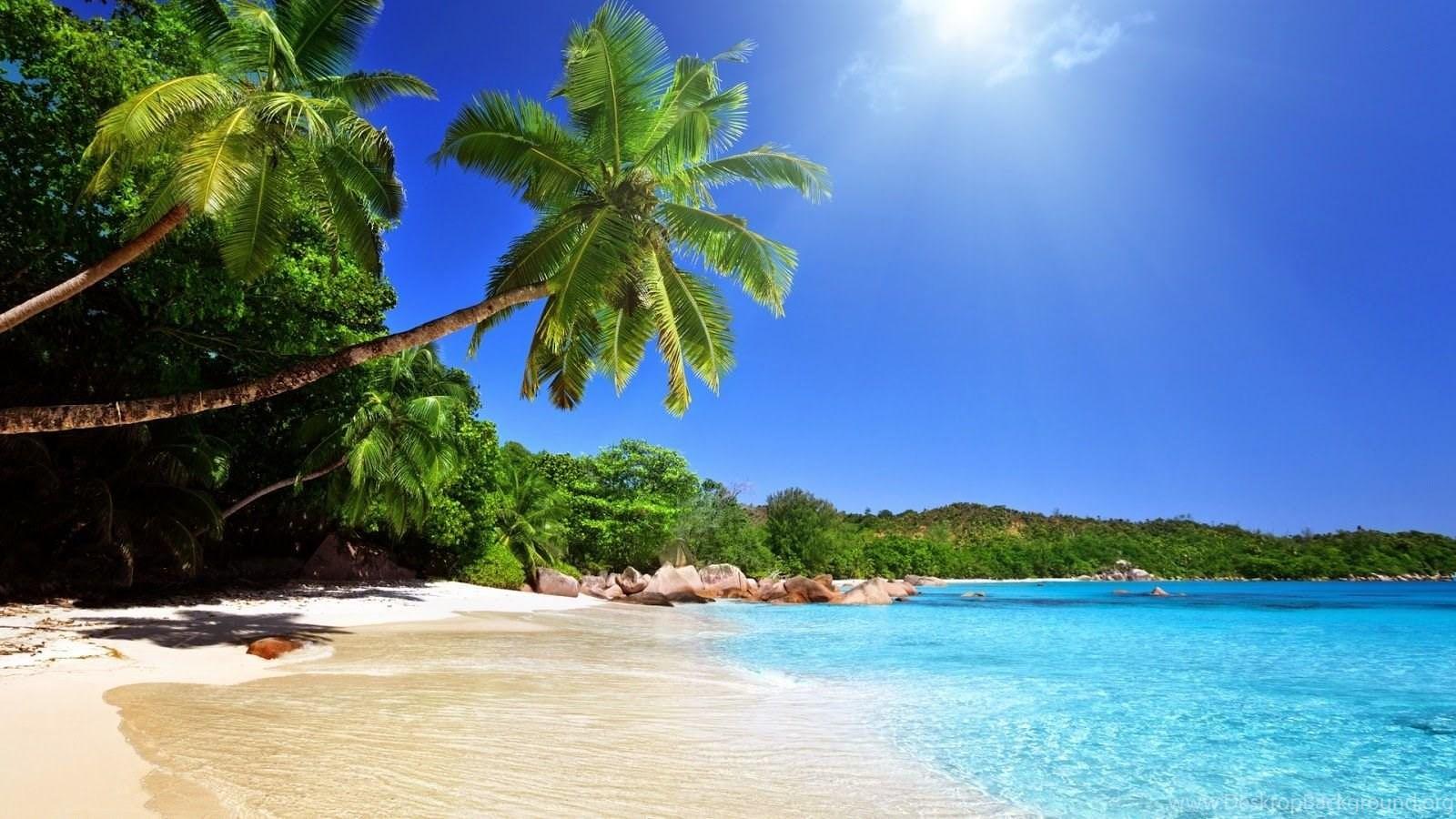 Tropical blue sea clear sky white sand beach view theme hd 1080p popular voltagebd Choice Image