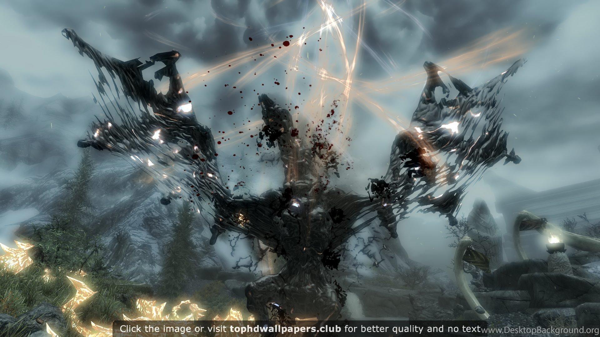 Dragons The Elder Scrolls V Skyrim 4k Or Hd Wallpapers For Your Pc Desktop Background