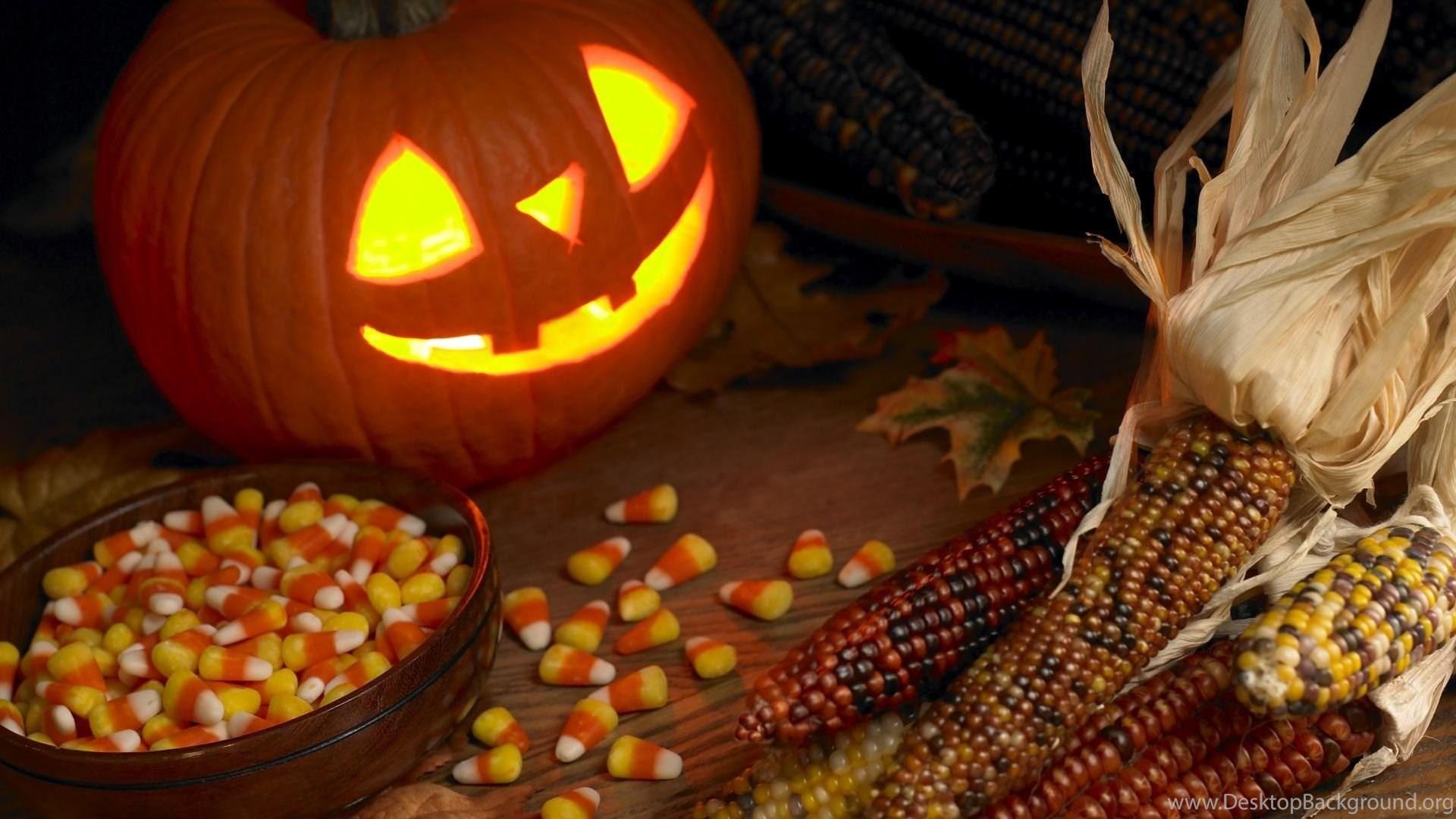 Photo Of Jack O Latern Pumpkin Indian Corn Candy Corn And