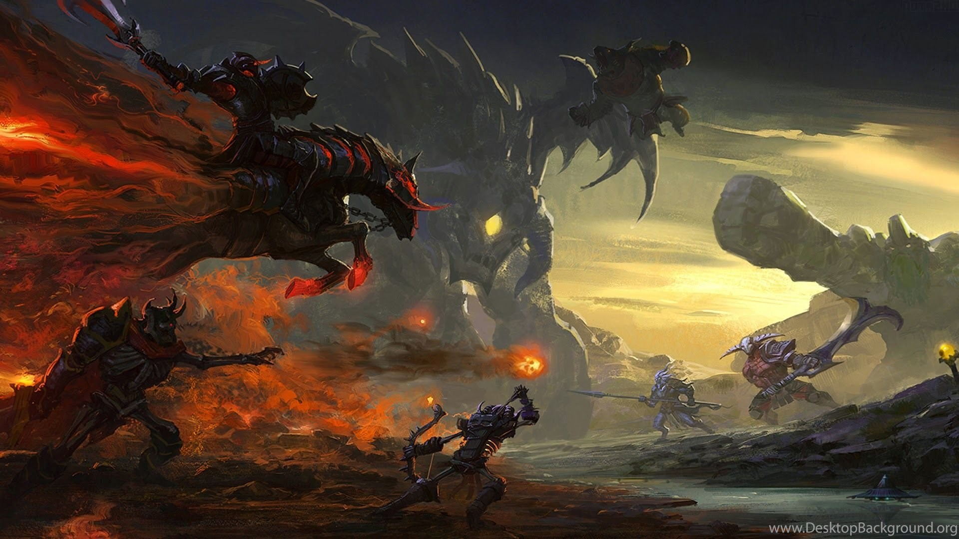 Roshan Dota Hero 2016 Defense Of The Ancients Games Desktop Background