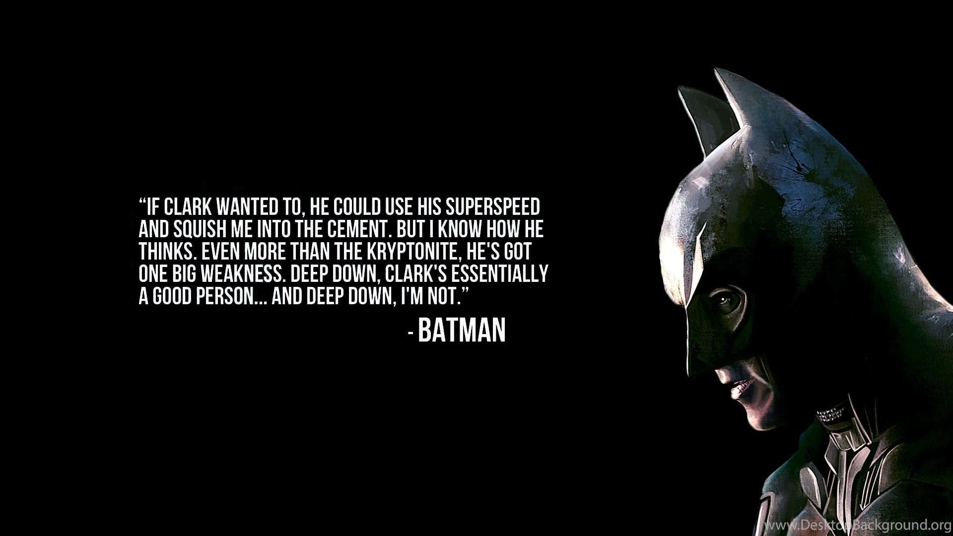 Batman Quote 1920x1080 Wallpapers Desktop Background