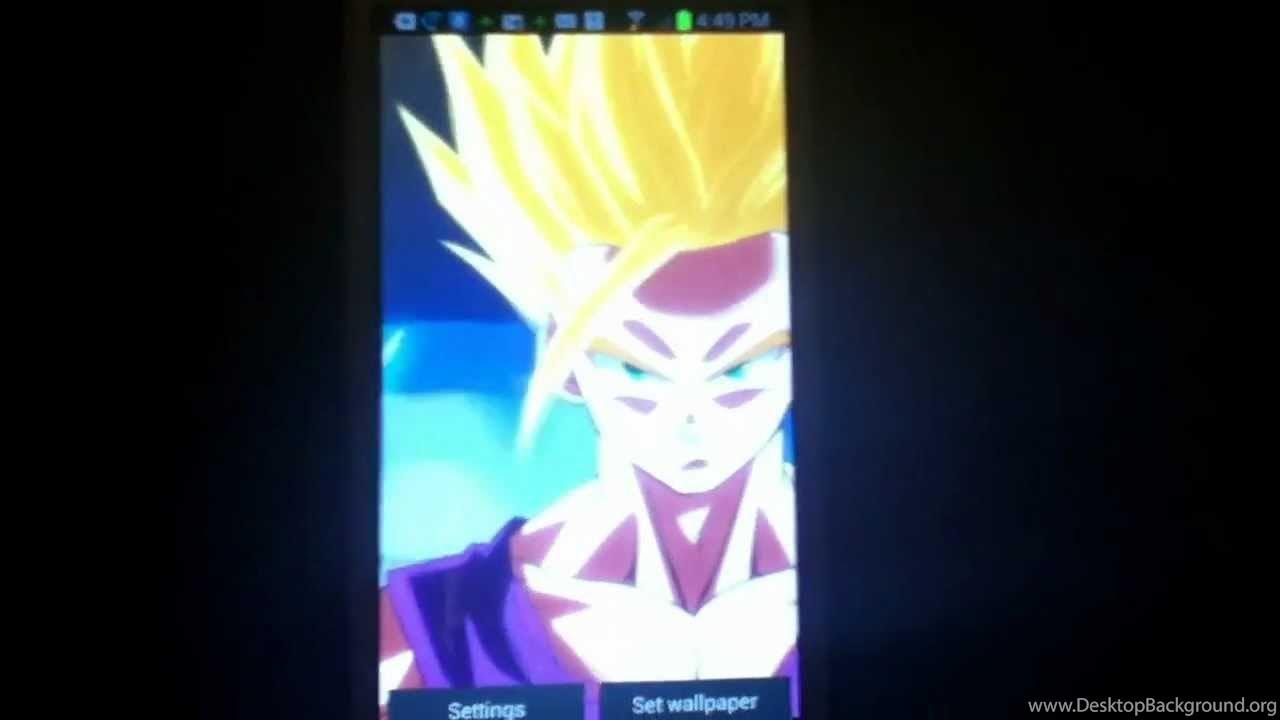 Dragon Ball Z Android Live Wallpaper Gohan Ssj2 Youtube Desktop