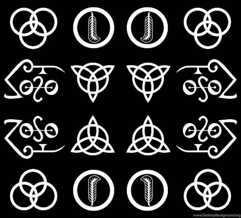 Led Zeppelin Symbols Wallpapers Voldemart Spoonflower Desktop Background