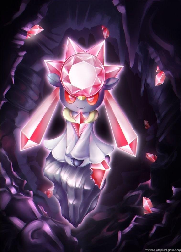 Legendary Pokemon Diancie By Jacya On Deviantart Desktop Background