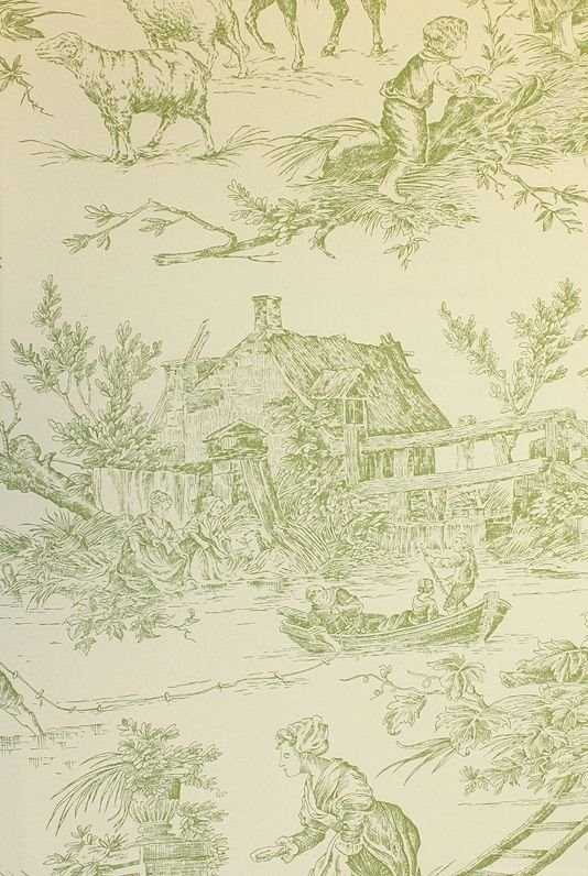 Toile by Albany Litlington Wallpaper