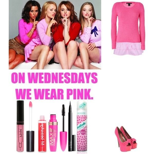 Mean Girls Quotes On Wednesdays We Wear Pink: Mean Girls ( On Wednesdays We Wear Pink ) Polyvore Desktop