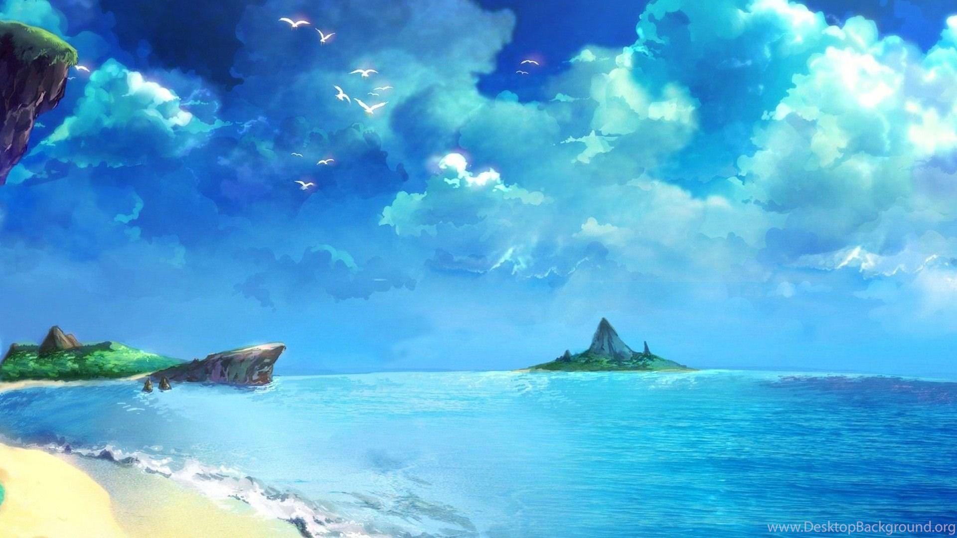 gallery for anime ocean backgrounds desktop background